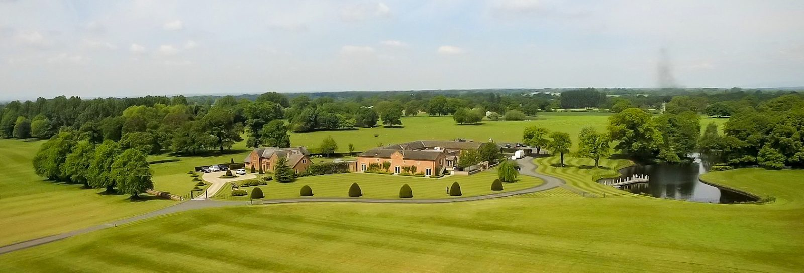 Aerial View at Merrydale Manor Cheshire Wedding Venue
