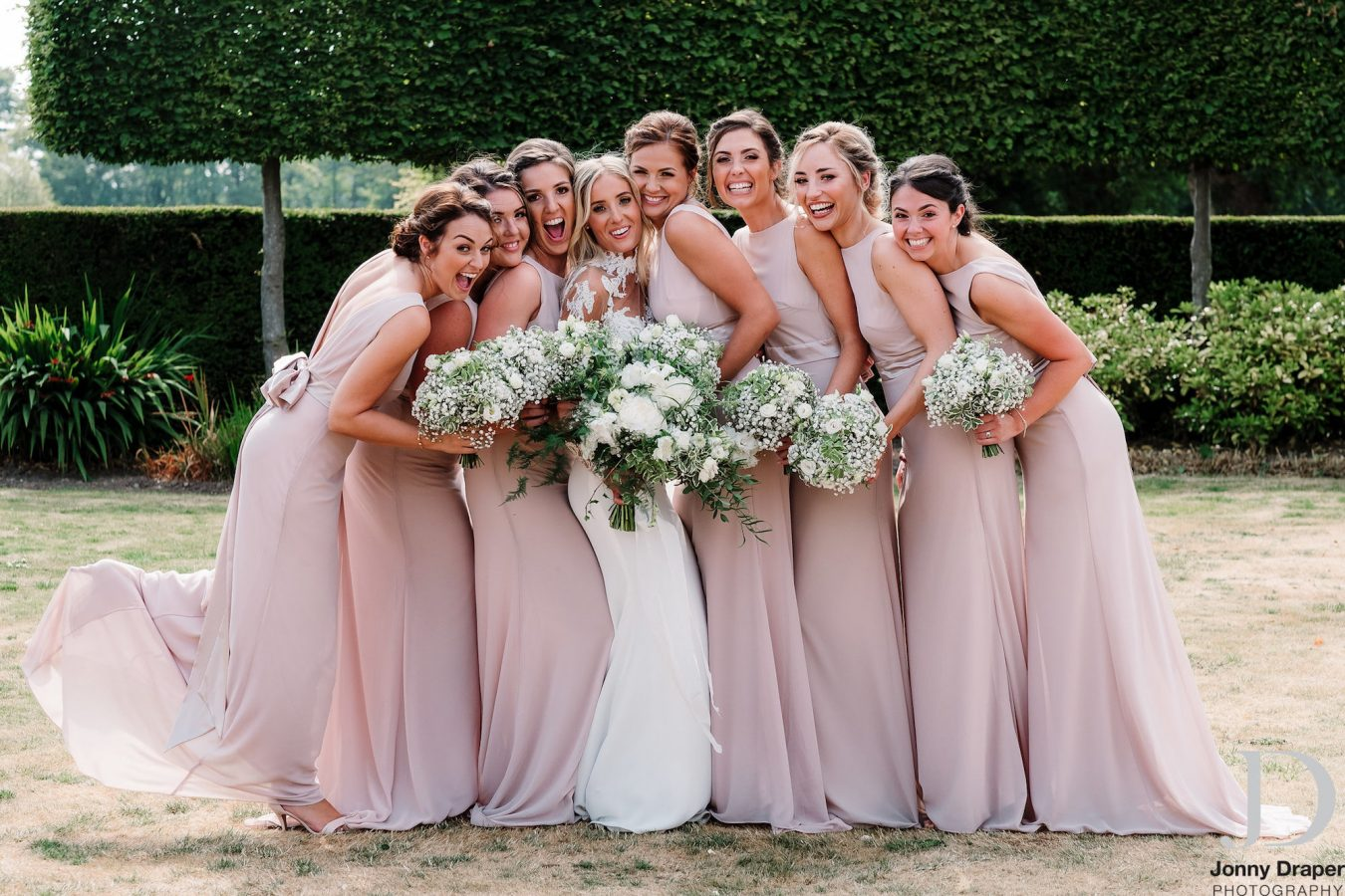 Bridesmaids at Merrydale Manor Cheshire Wedding Venue
